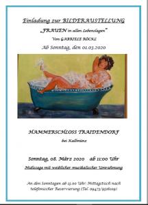 Einladung zur Bilderausstellung von Gabriele Röckl